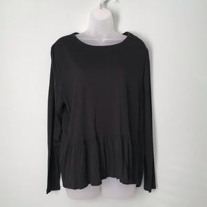 Old Navy Black Women's Long Sleeve Top Size XL